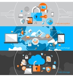 Data Protection Security Banners vector