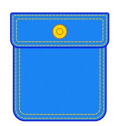 denim pocket vector image