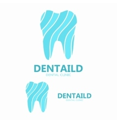 dental clinic logo healthy tooth logo vector image