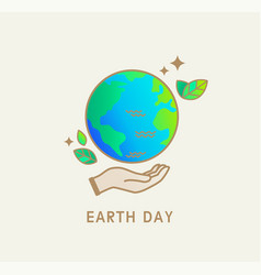earth day symbolicon for environment safety vector image