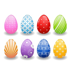 Easter eggs with patterns vector image