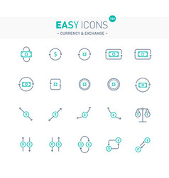 easy icons 10e exchange vector image