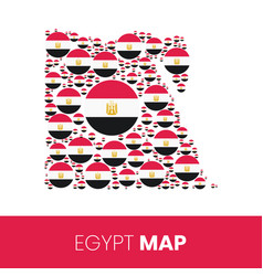 Egypt map filled with flag-shaped circles vector