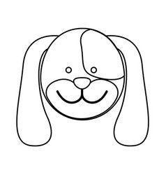 Figure face dog icon vector