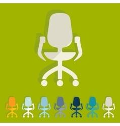 Flat design office chair vector