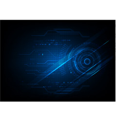 Futuristic blue technology template background vector