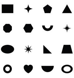 geometric shapes icon set vector image