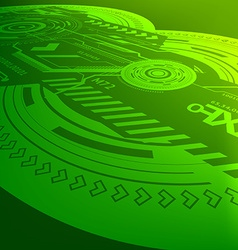 Green Techno Background vector