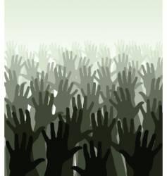 hand sea vector image