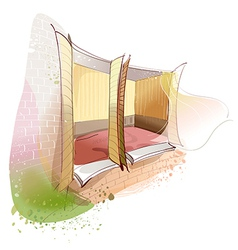 Interior Windows Background vector image
