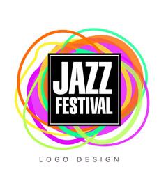 Jazz festival logo creative banner poster flyer vector