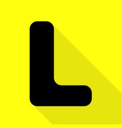 Letter l sign design template element black icon vector