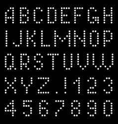 letters and numbers of pixels vector image