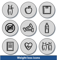 light weight loss icons vector image