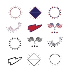 Logos and labels Independence vector