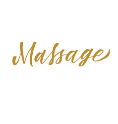 Massage hand lettering vector