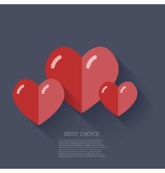 Modern flat heart background Eps 10 vector