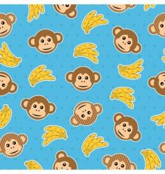 Monkey wallpaper pattern vector