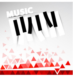 music design with keys and triangles vector image