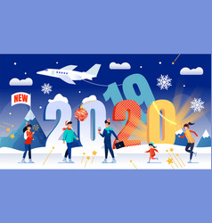 new year holiday vacation travel concept vector image