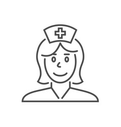nurse related thin line icon vector image