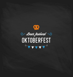 oktoberfest vintage poster or greeting card on a vector image