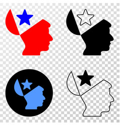 open mind star eps icon with contour vector image