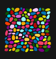 pebble colorful background for your design vector image