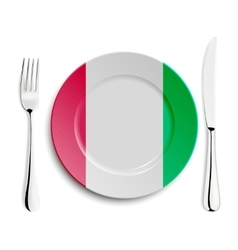 Plate with flag of Italy vector