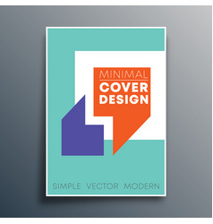 poster template with quote commas design for flyer vector image