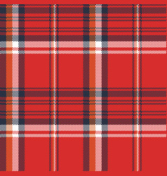 red plaid fabric texture pixel seamless pattern vector image