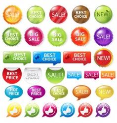 Retail buttons vector