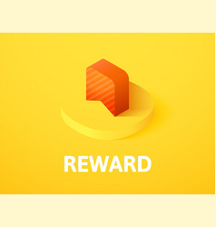 reward isometric icon isolated on color vector image