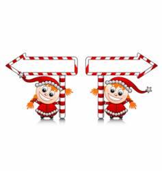 Santa's little helpers vector image