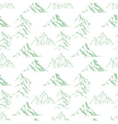 seamless background with green doodle sketch vector image