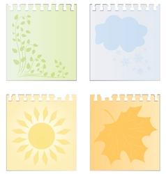 seasons vector image
