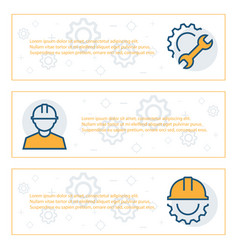 simple banners set engineering items vector image