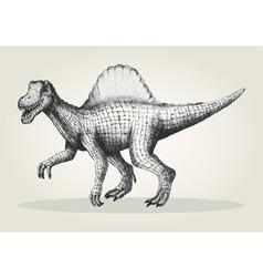 Sketch of a spinosaurus vector