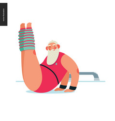 Sporting santa - aerobics vector