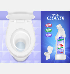 toilet cleaner advertising fresh clean concept vector image