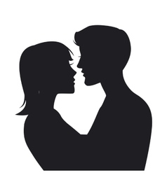 Two lovers Silhouette vector image