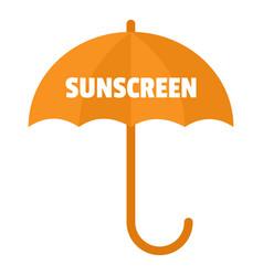Umbrella sun screen logo flat style vector