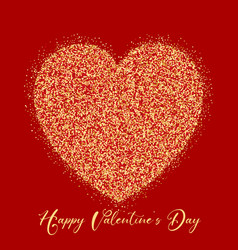 valentines day glitter heart vector image