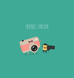various photo camera designs vector image
