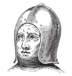 war helmet vintage engraving vector image