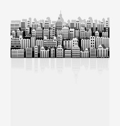 White black city paper nice background for urban vector