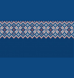 wide background for holiday design winter knitted vector image