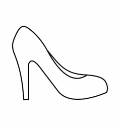 Women shoe with heels icon outline style vector
