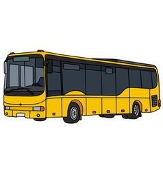 Yellow city bus vector