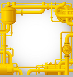 Yellow gas pipes vector